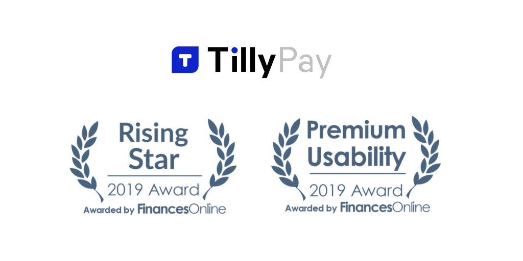 TillyPay wins Rising Star and Premium Usability awards