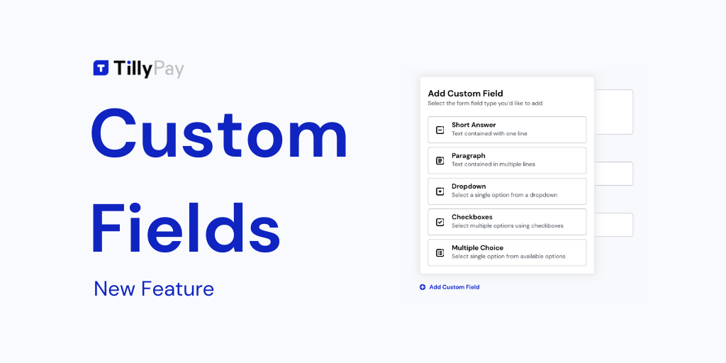 New Feature: Custom Fields