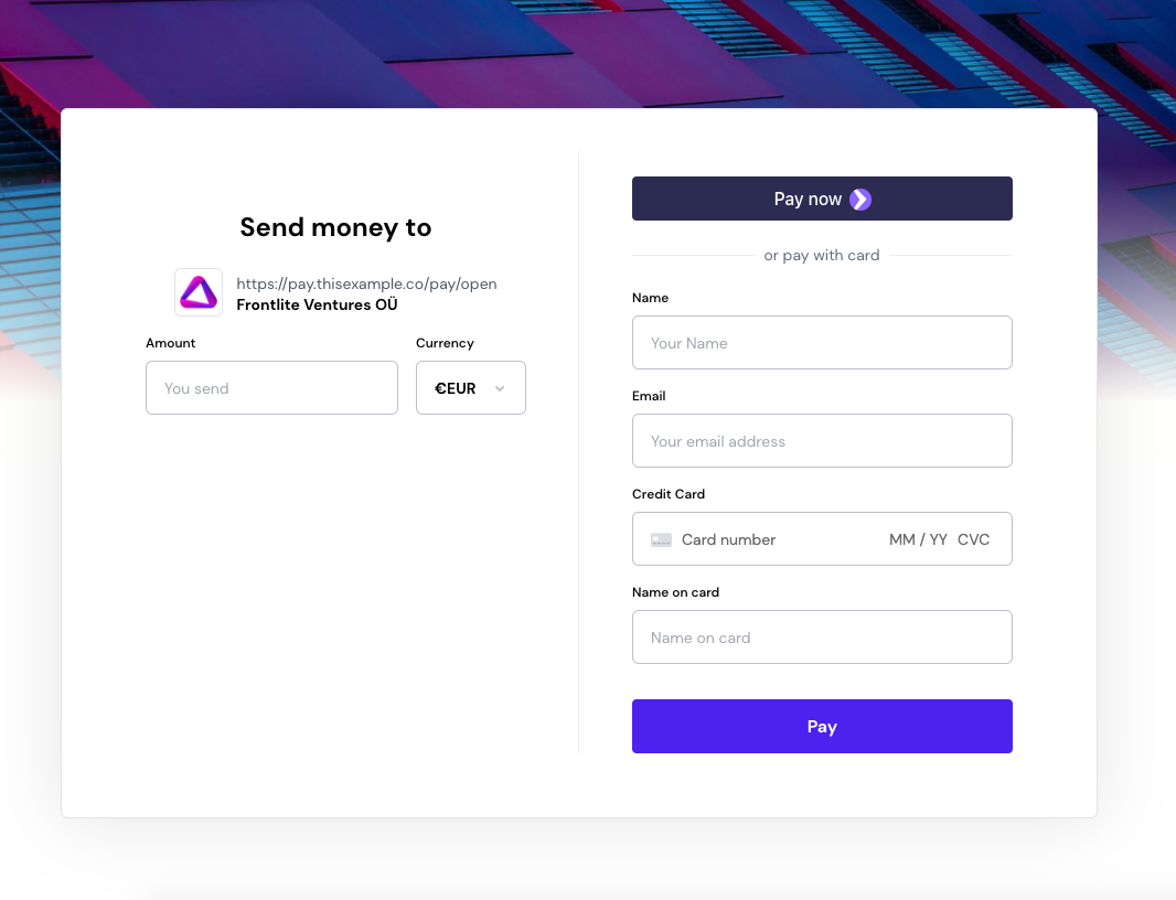 Open Payment Link with Stripe